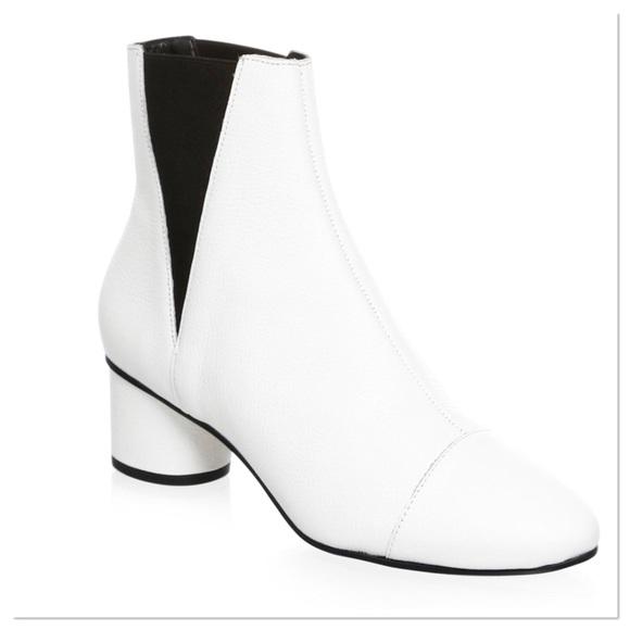 9542eb75013 REBECCA MINKOFF Women White Leather Izette Booties